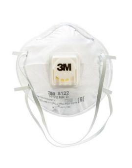 3M 8122 Disposable FFP2 Face Masks with Cool Flow Valve